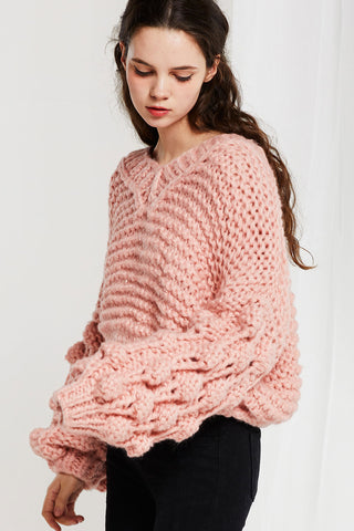 Sue Chunky Knit Sweater-2 Colors (Pre-Order)