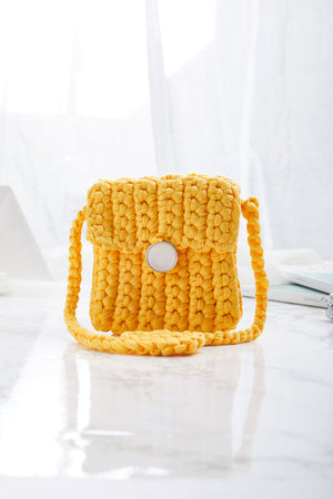 Crocheted Mini Cross Body Bag