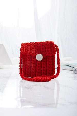 Crocheted Mini Cross Body Bag-2 Colors