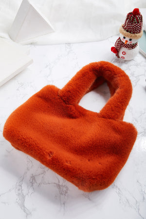 Jessica Small Faux Fur Tote
