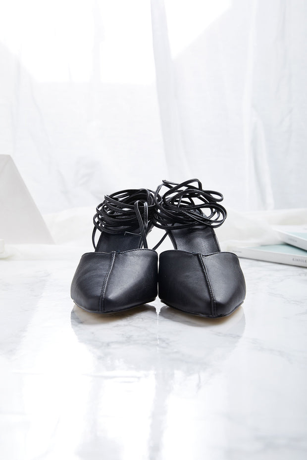 Two Way Lace Up Mules