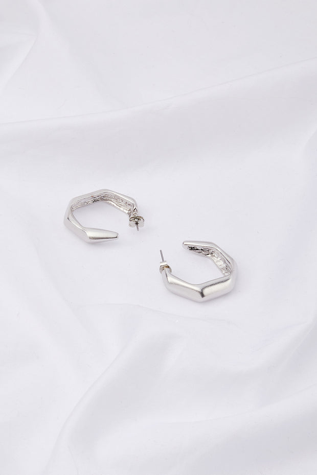 storets.com Pentagon Hoop Earrings