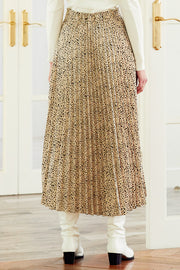 Abigail Pleated Long Skirt