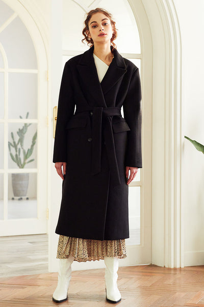 Leyla Quilted Lining Belted Coat