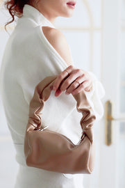 Scrunchie Strap Pleather Bag
