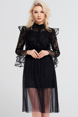 Felicity Ruffle Lace Dress