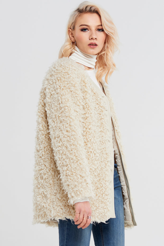 Luni Shearling Coat With Belt