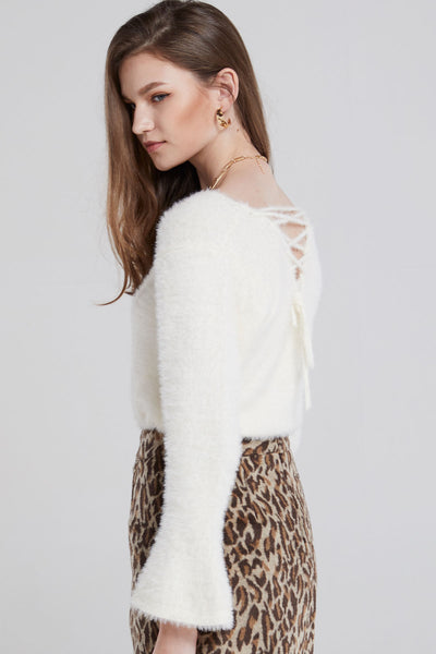 Kimmy Fuzzy Laced Sweater