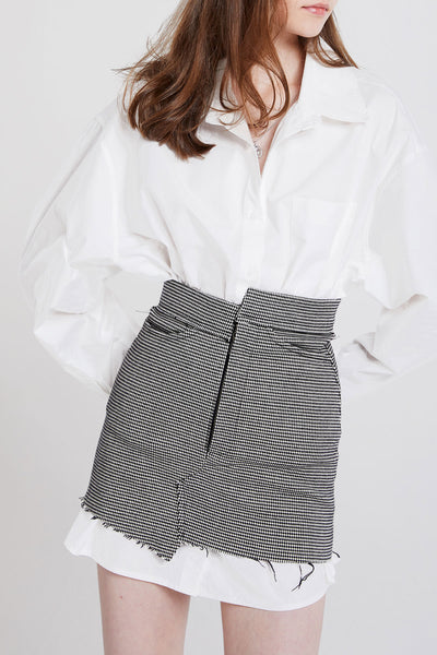 Pauline Asymmetric Check Skirt