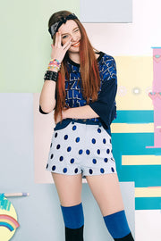 [VVV] STRAWBERRY DOTS PANTS - BLUE