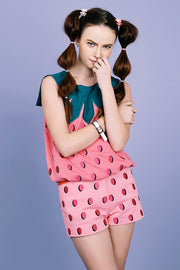 [VVV] STRAWBERRY DOTS PANTS - PINK