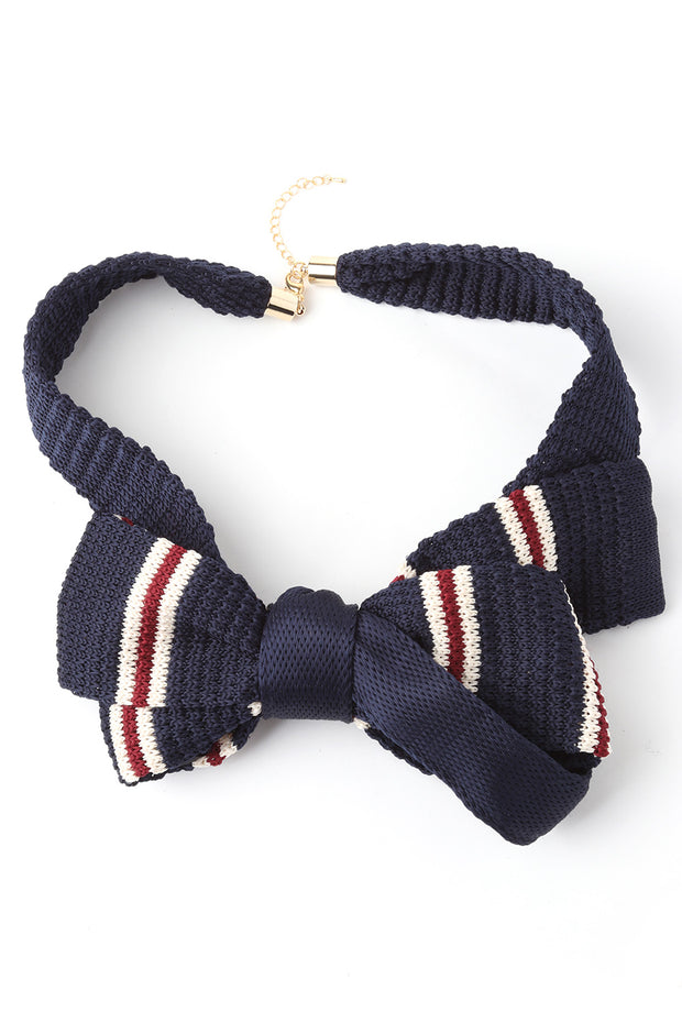 Knitting Bow Choker