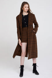storets.com Peggy Double Breasted Plaid Coat-2 Colors