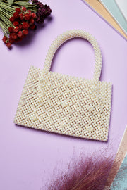 Pearl Beaded Shopper Bag by STORETS