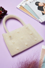 Pearl Beaded Shopper Bag