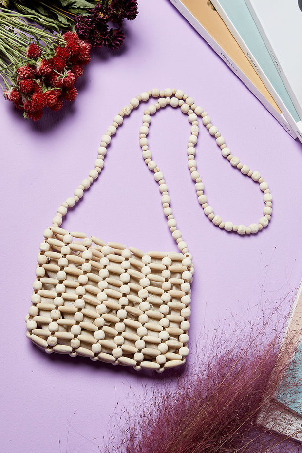 Wood Beads Bag by STORETS