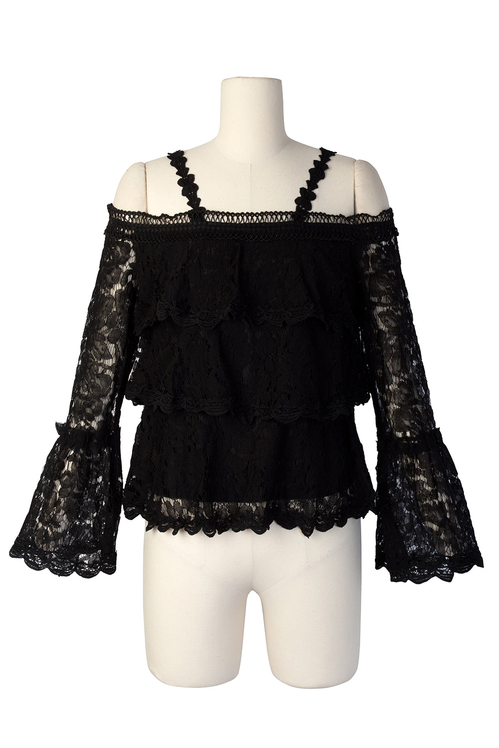 Shenna Lace Cold Shoulder Blouse