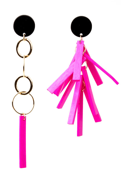 Unbalance Stick Drop Earrings