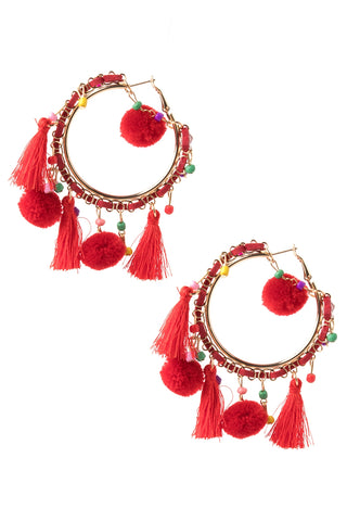 Tassel Circle Earrings