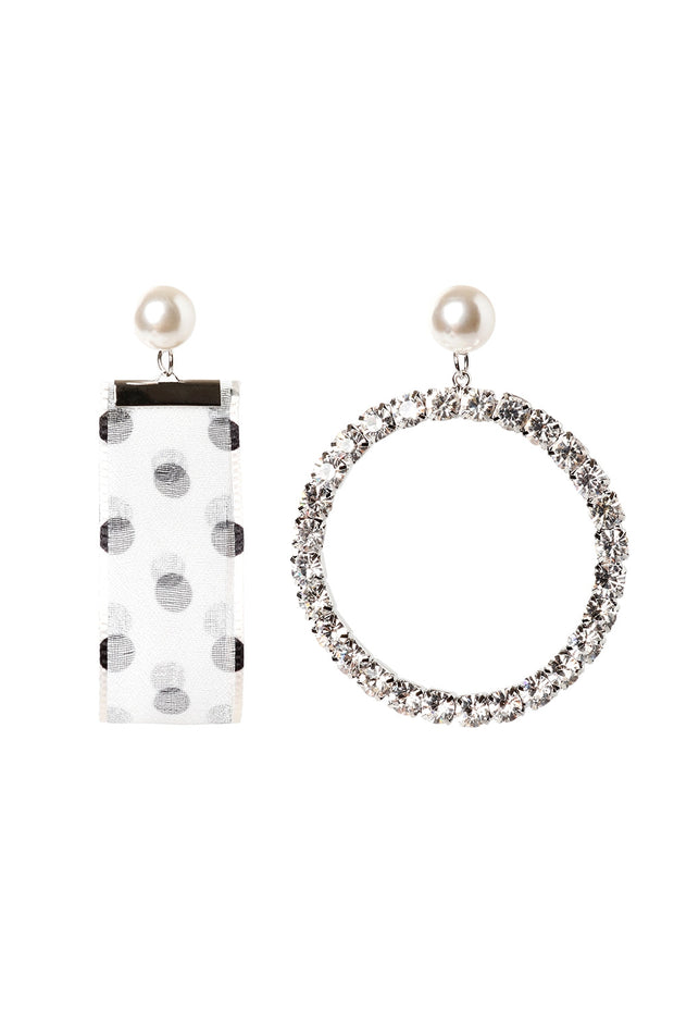 Dot Unbalanced Earrings