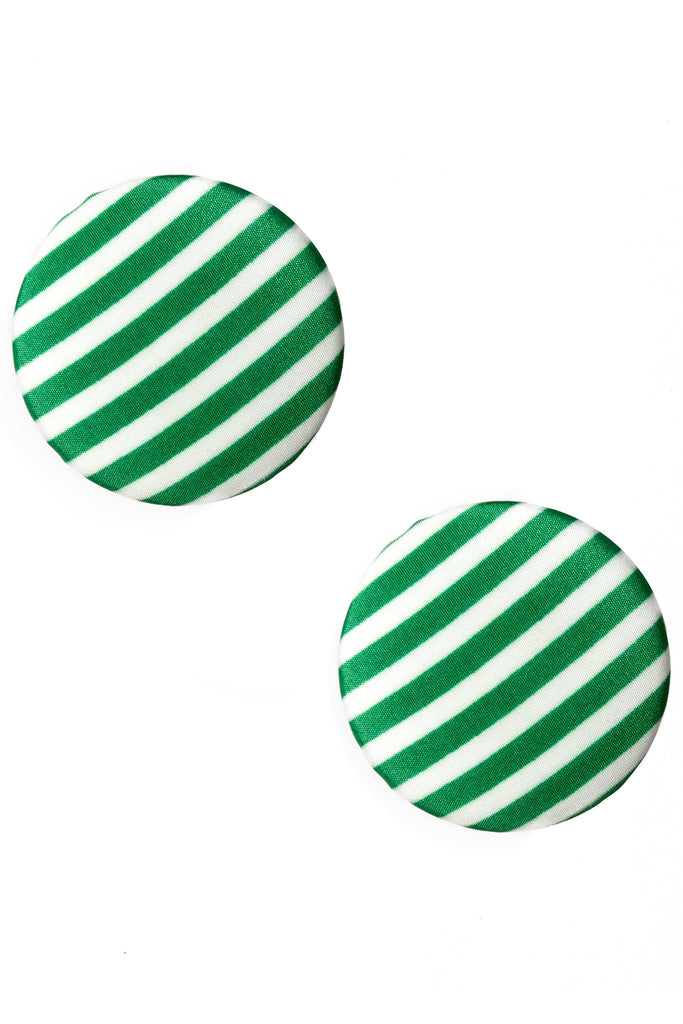 Striped Circle Earrings