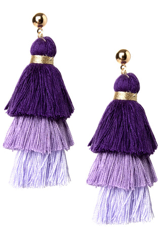 Tone on Tone Tassel Earrings