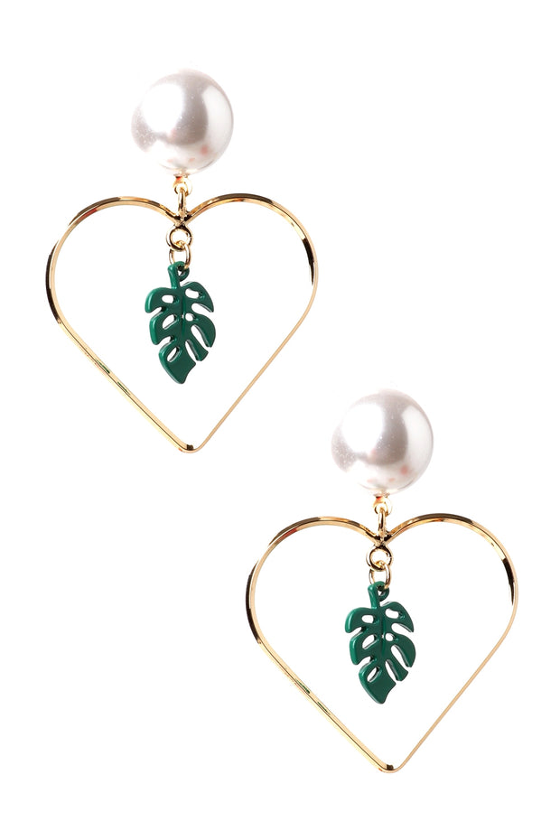 Leaf Heart Earrings