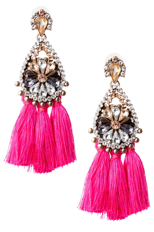 Water Drop Tassel Earrings