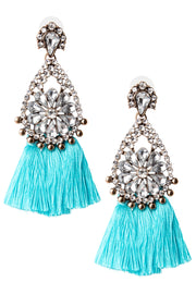 storets.com Water Drop Tassel Earrings