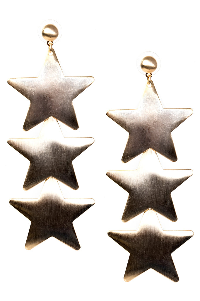 Bold Star Trio Earrings