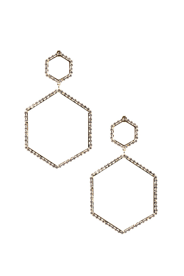 storets.com Double Hexagon Earrings