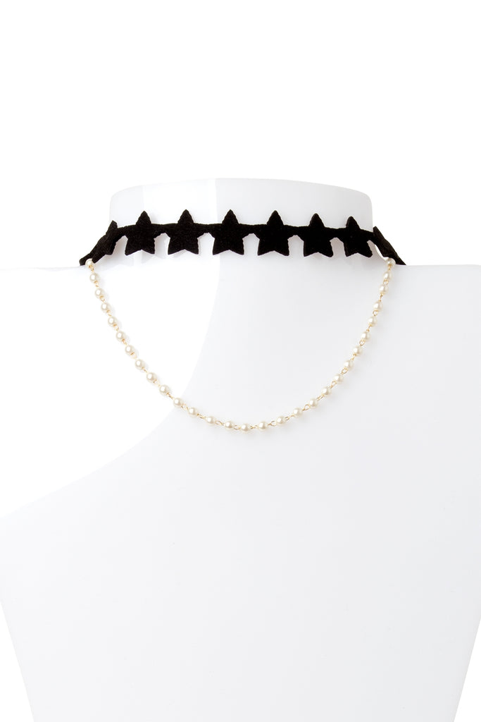 Star Star With Pearl Choker
