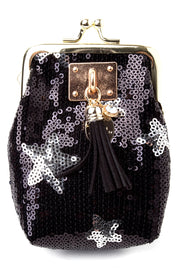 Gold Star Sequin Coin Purse