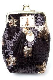 storets.com Gold Star Sequin Coin Purse