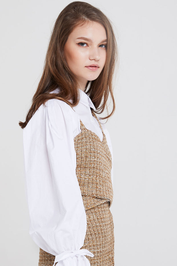 storets.com Esther Mottled Tweed Top