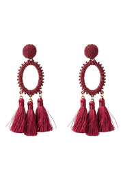 storets.com Circle Tassel Earrings