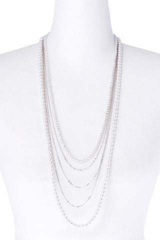 Pearl Multirow Necklace