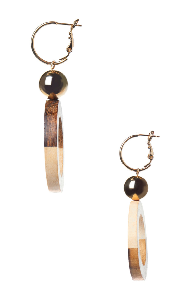 Wood Combo Earring