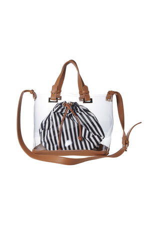 Stripe Clear Bag