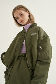 [ANOTHERA] Shirring MA-1 Jacket