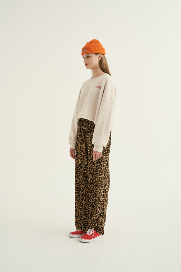 [ANOTHERA] Leopard Pleats Pants