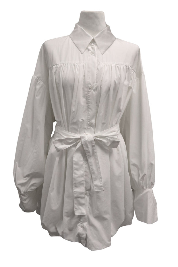 storets.com Marley Puffed Shirt Dress w/Belt