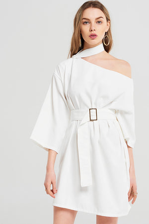 Amy Choker One Shoulder Dress