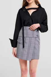 Karia High Waist Belted Skirt