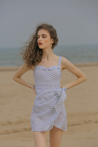 [Sincethen] Honey Dot Linen Dress
