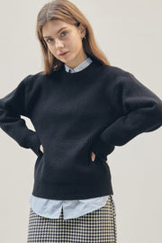 [ANEDIT] D Crew Neck Sweater_BK