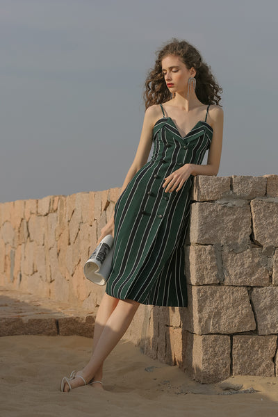 [Sincethen] Jade Stripe Sleeveless Dress