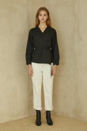 [ANEDIT] P Wrap Blouse_BK