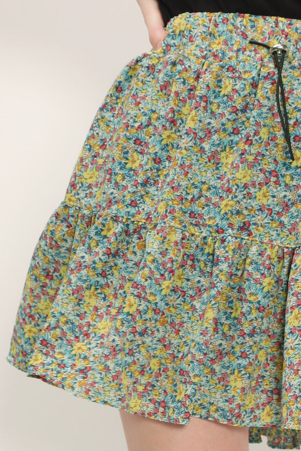 storets.com Avery Floral Tiered Skort