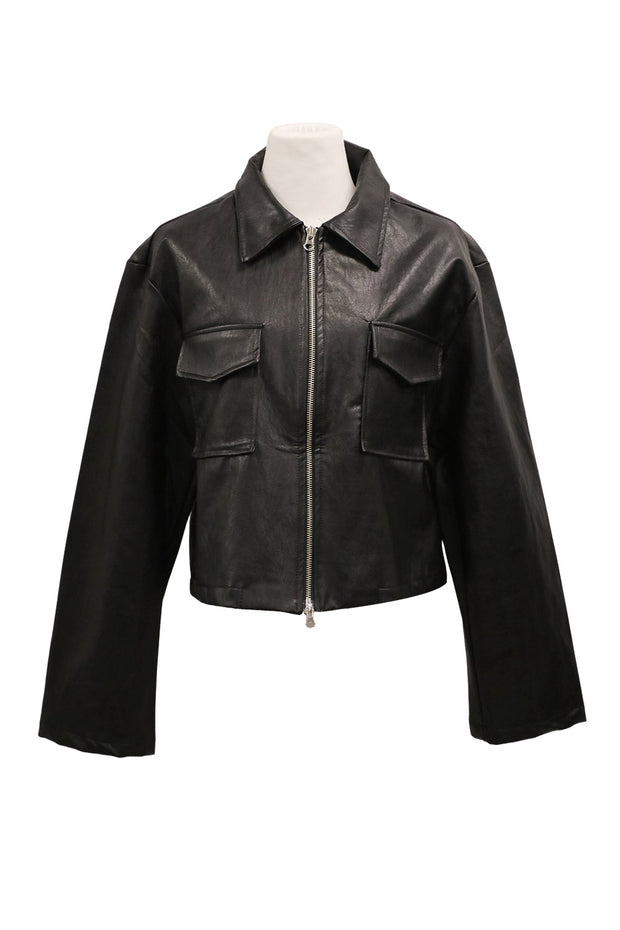 storets.com Lydia Pleather Zip-Up Jacket
